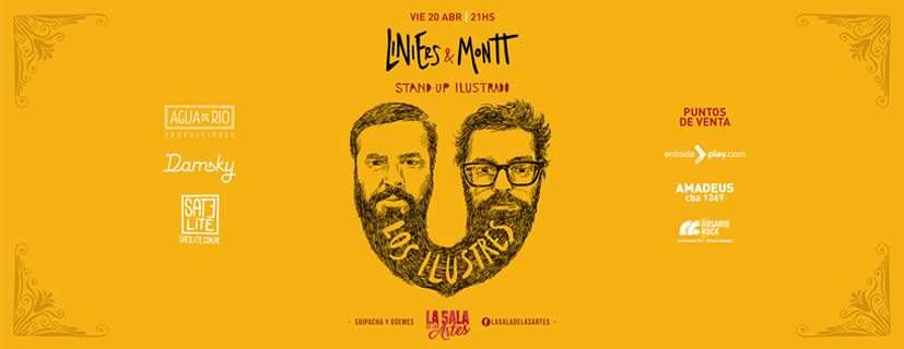 LINIERS & MONTT regresan a la Argentina con su #StandUpIlustrado