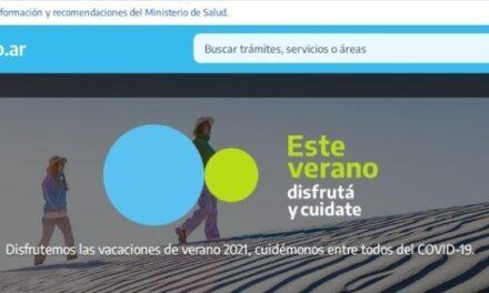 El ministerio de turismo presentó la Web Verano