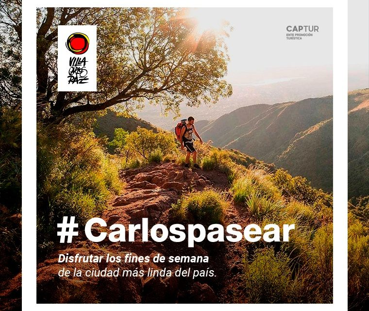 carlos paz presentó su campaña : «carlospasear»